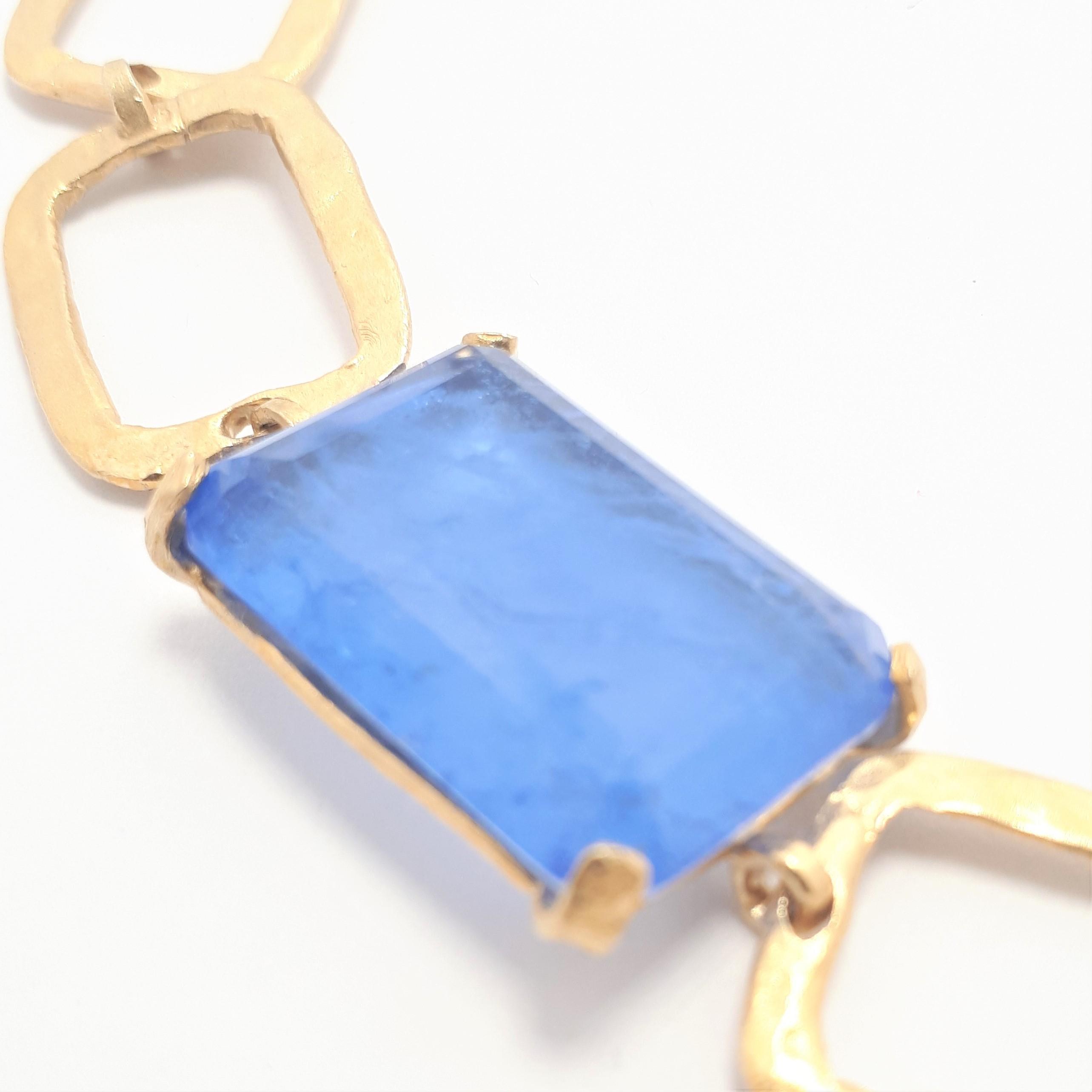 Bracciale Estrosia in Argento laminato Gold e Cristallo Cylon
