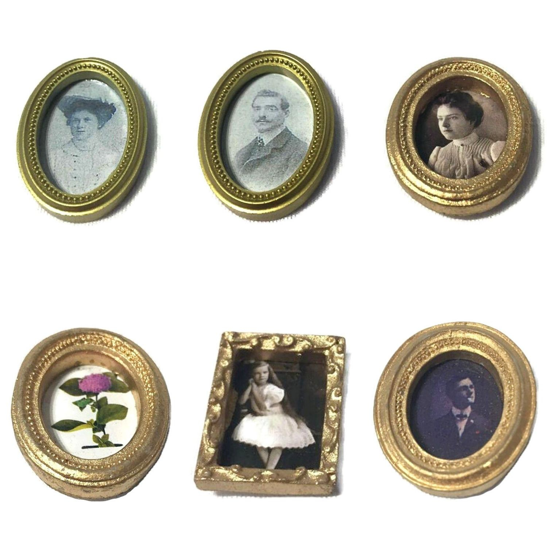 Set quadri in miniatura per la casa delle bambole in legno