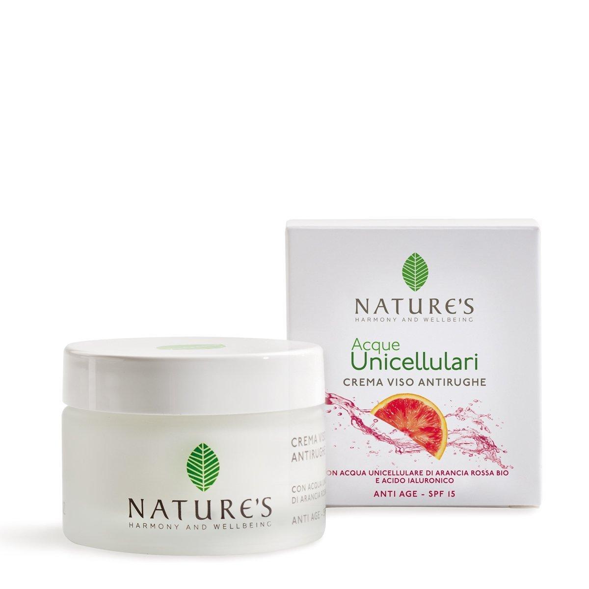 Crema Viso Antirughe SPF 15 Acque Unicellulari 50 ml