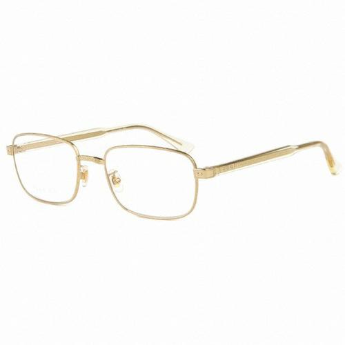 Gucci - Occhiale da Vista Unisex, Gold  GG0190O  003  C55