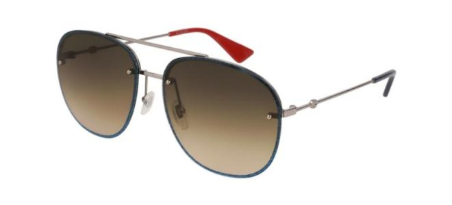Gucci - Occhiale da Sole Unisex, Grey Ruthenium/Brown Shaded  GG0227S  002  C62