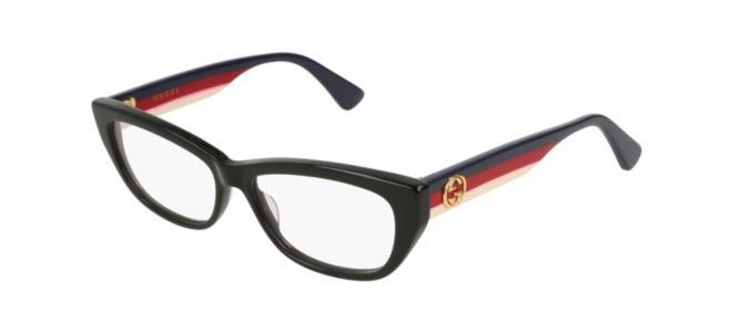 Gucci - Occhiale da Vista Unisex, Black Multicolor  GG0277O  001  C54