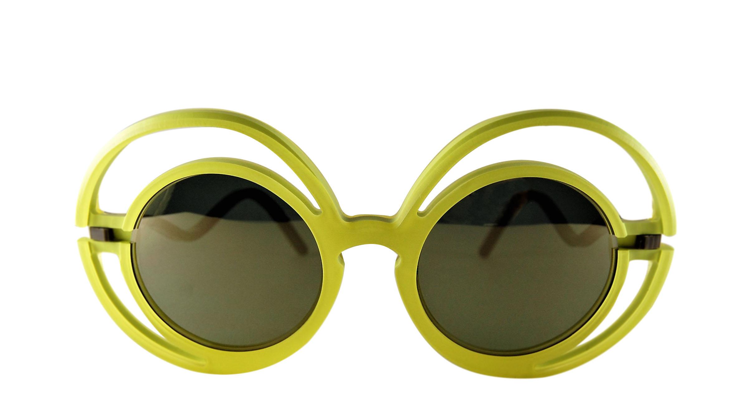 Occhiale da sole plastic de lux mod. Chantal-yellow
