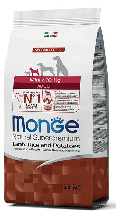 MONGE Mini Adult Agnello, Riso e Patate 2,5KG