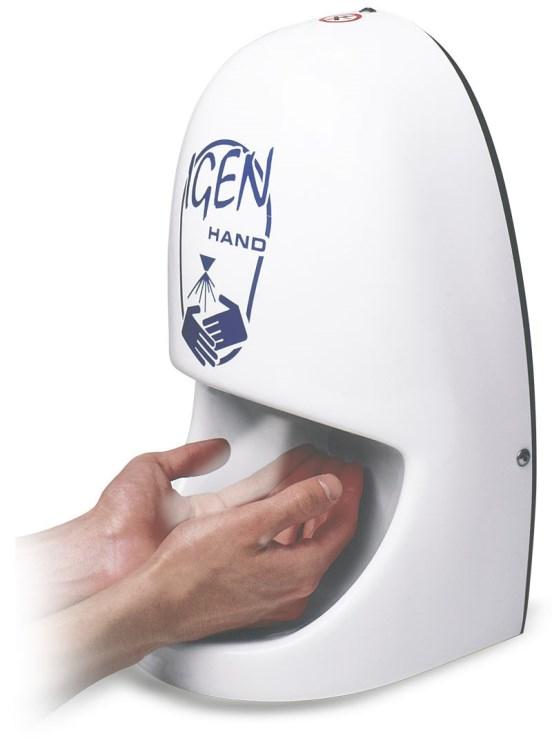 IGEN HAND Igienizzazione delle mani, a fotocellula