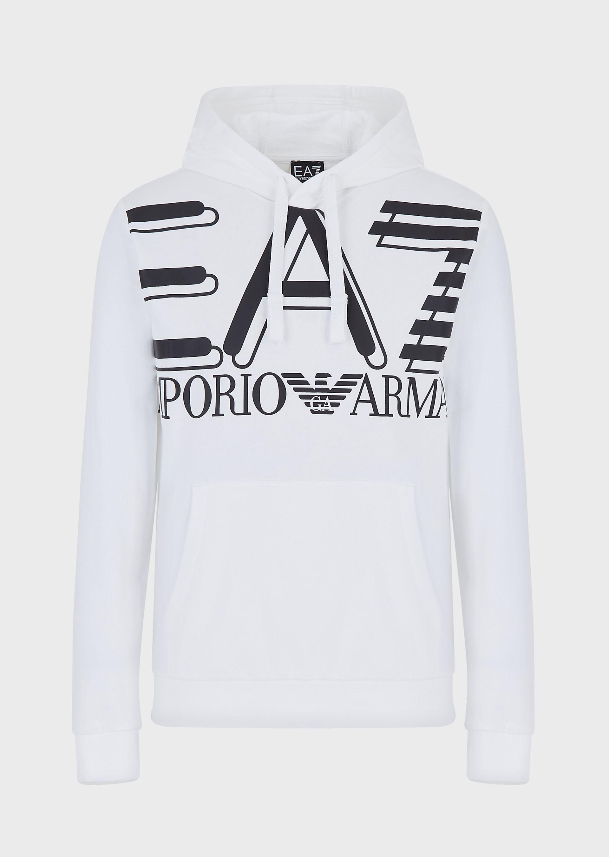 Felpa uomo ARMANI EA7 con stampa maxi logo