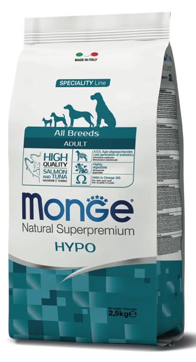 MONGE All Breeds Adult Hypo con Salmone e Tonno 2,5KG