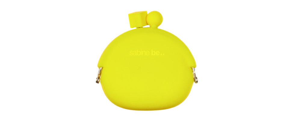 Portacatenina/portamonete in silicone sabine be neon yellow
