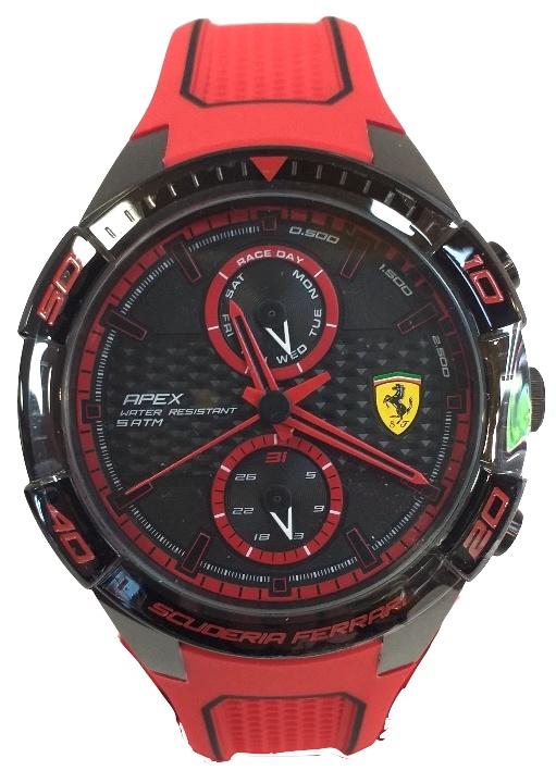 Ferrari Apex Chronograph 45,50 Mm Ionic Plated Bracelet