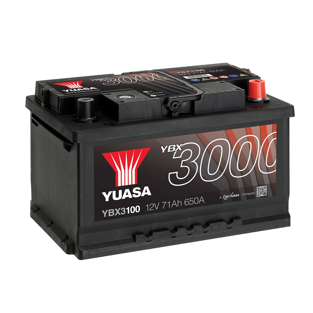 BATTERIA YUASA 71Ah 680A 680EN - YBX3100 POSITIVO A DX