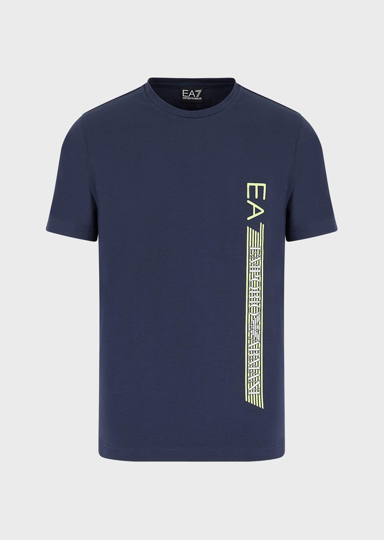 T-shirt uomo ARMANI EA7 in jersey con logo laterale