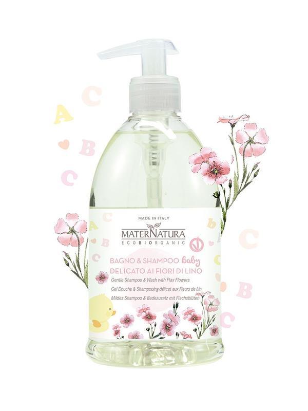 Bagno & Shampoo Delicato ai Fiori di Lino