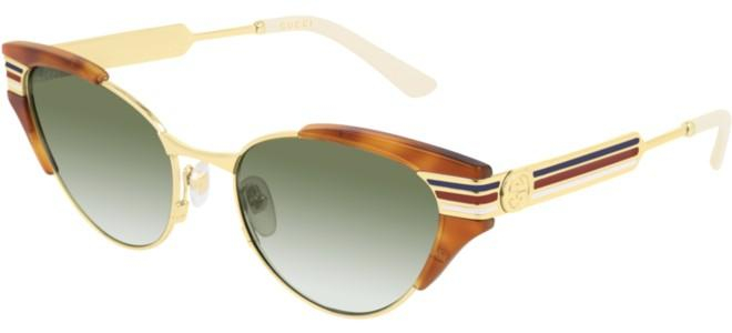 Gucci - Occhiale da Sole Donna, Light Havana/Green Shaded  GG0522S  003  C55