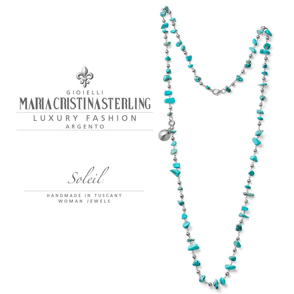 Collana Maria Cristina Sterling Collezione Soleil