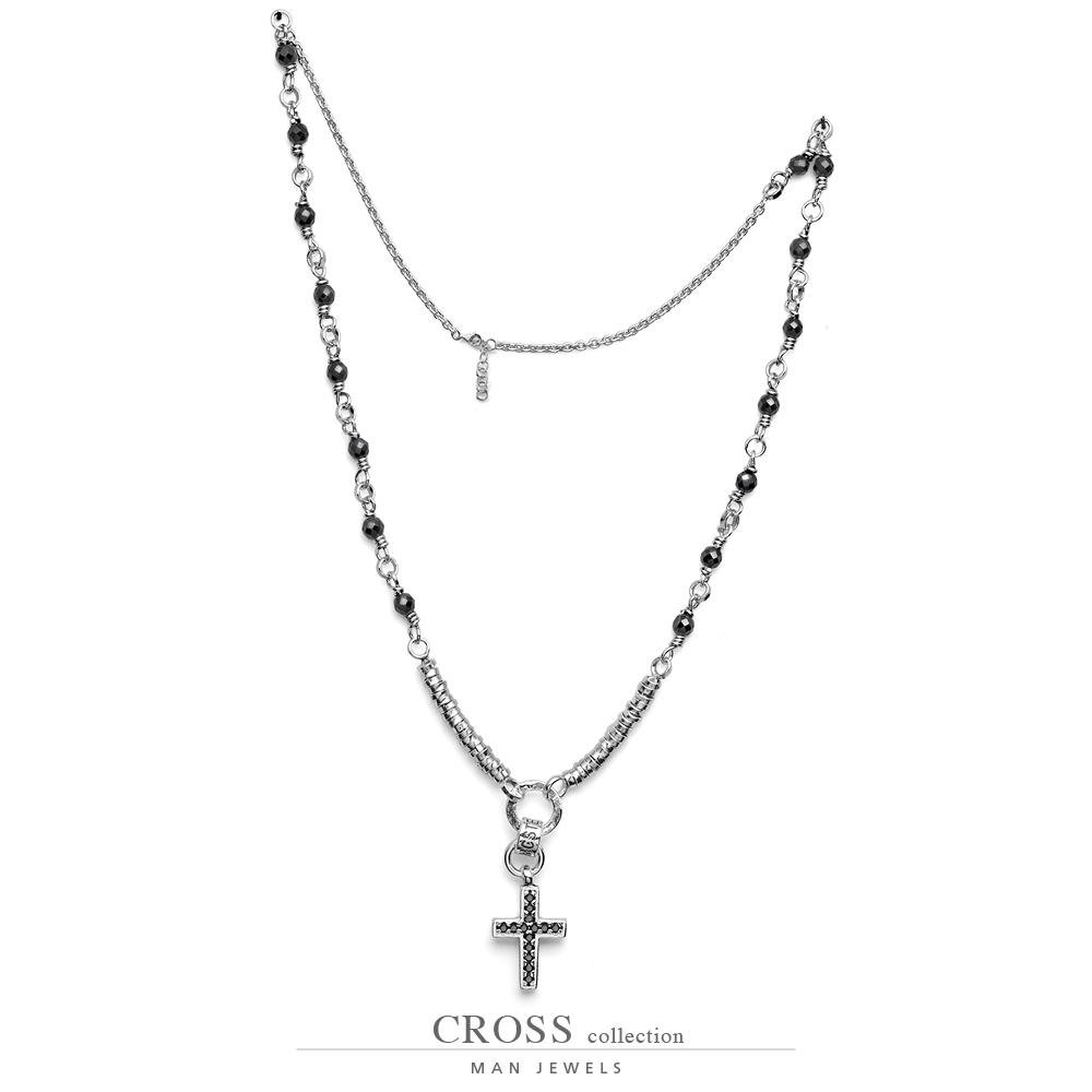 Collana Maria Cristina Sterling Collezione Cross Rosario