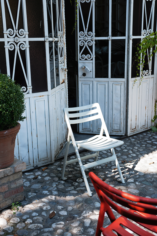 Sedia Folding Air Chair per esterni, colore bianco; Magis