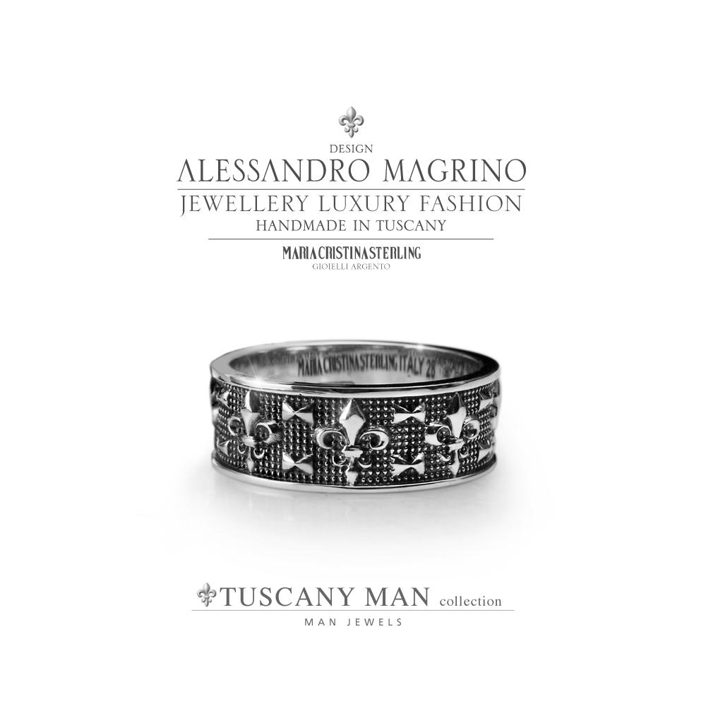 Anello Maria Cristina Sterling Collezione Tuscany