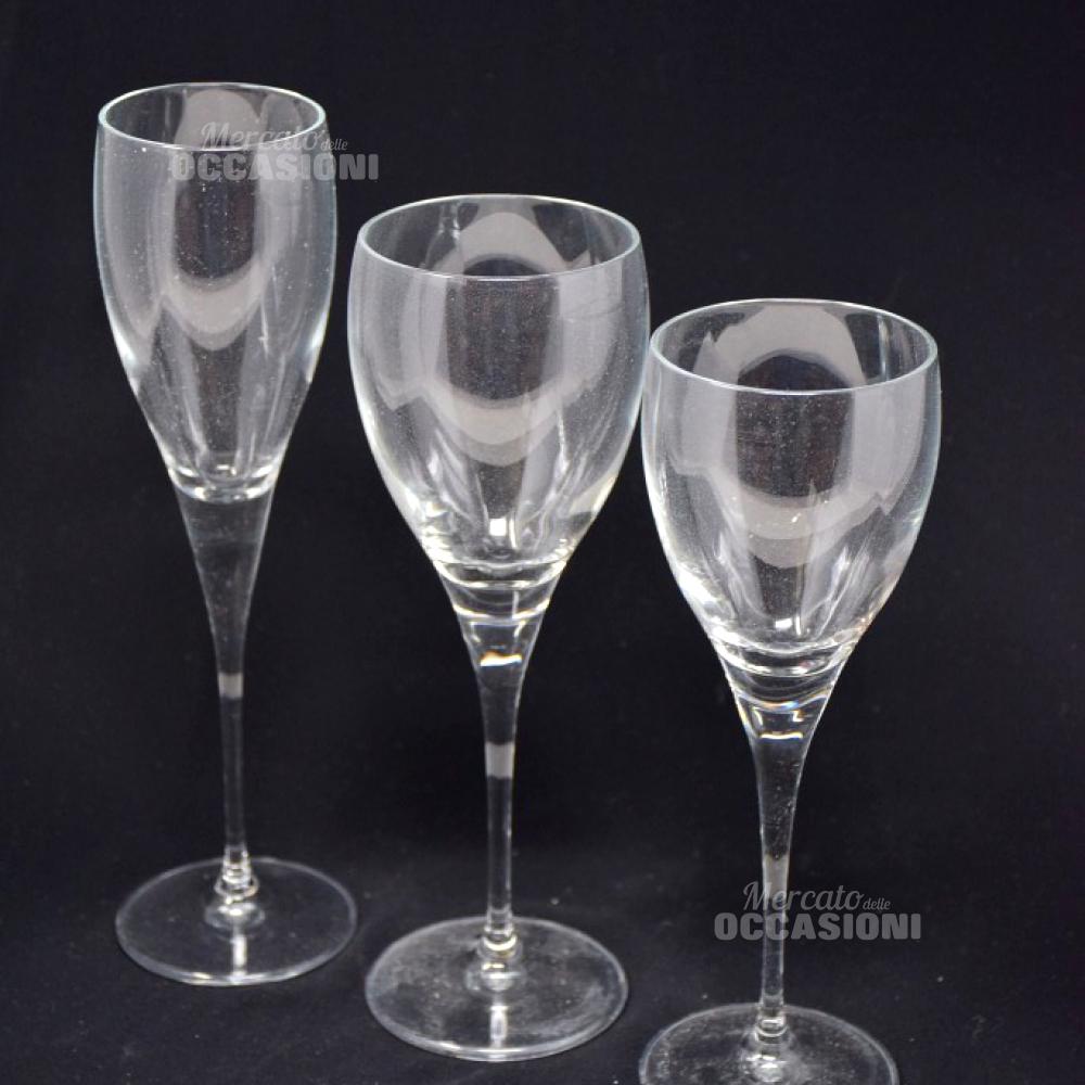 Calici Vino E Acqua set bicchieri bormioli in vetro calici per acqua, vino e