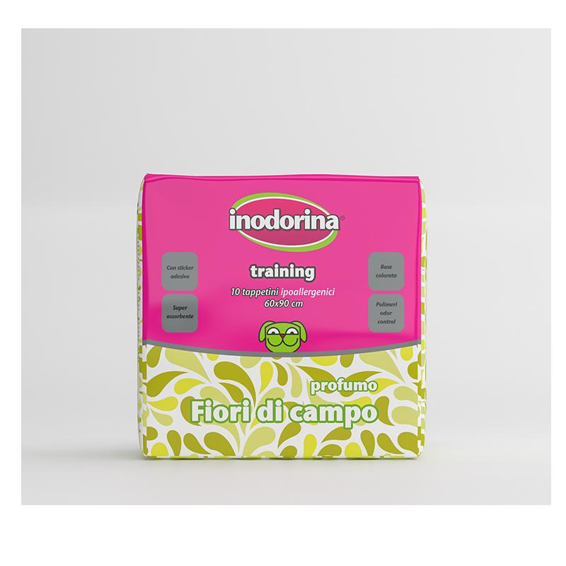 Inodorina Tappetino Igienico Profumato Fiori di campo 10 pz 60x90
