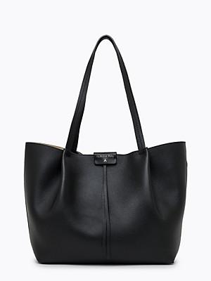 Borsa shopping grande in pelle colore nero - PATRIZIA PEPE