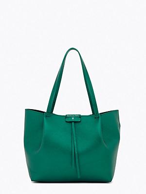 Borsa shopping media in pelle colore verde - PATRIZIA PEPE