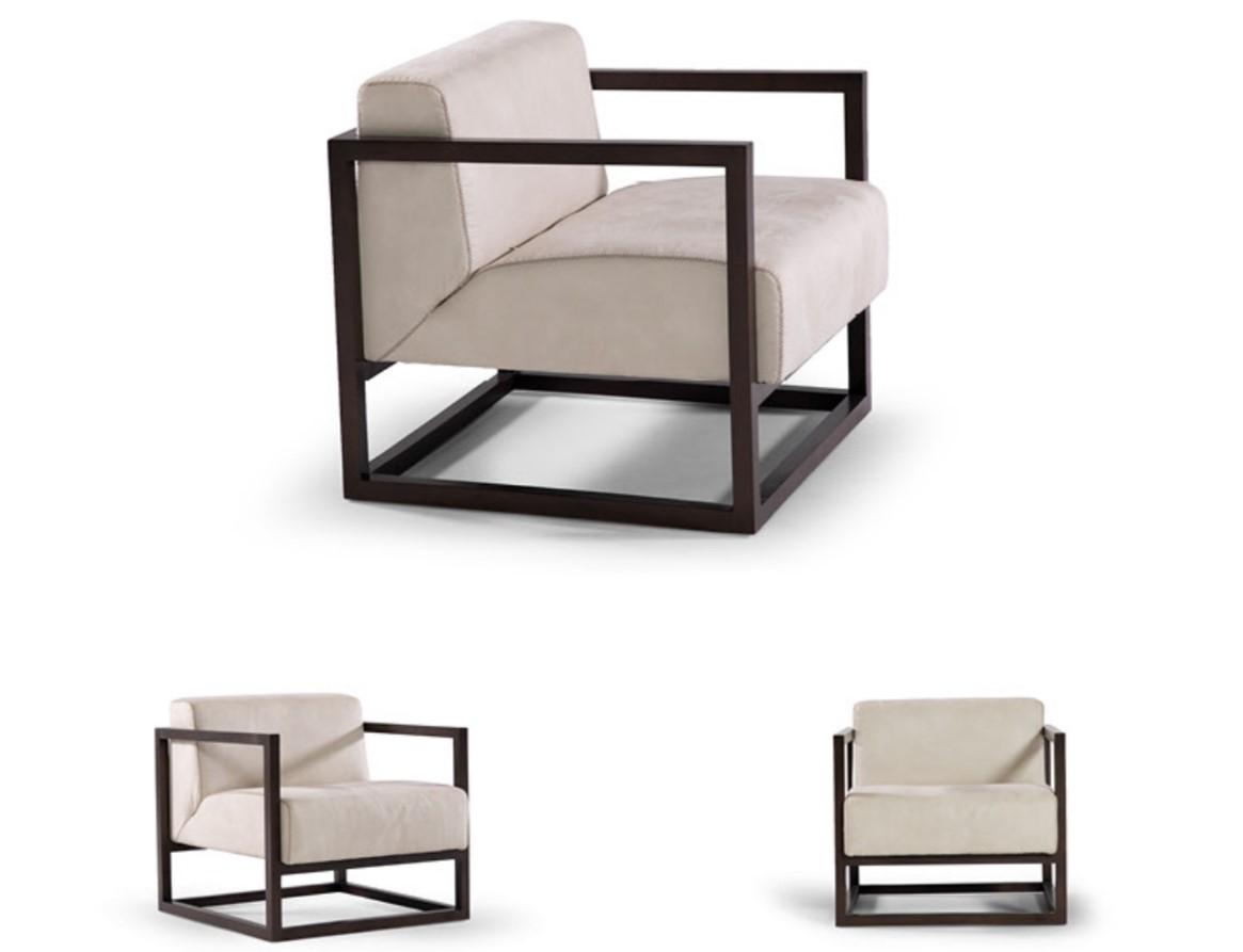 LORD V- Poltrona con struttura cubica dal design moderno e minimalista