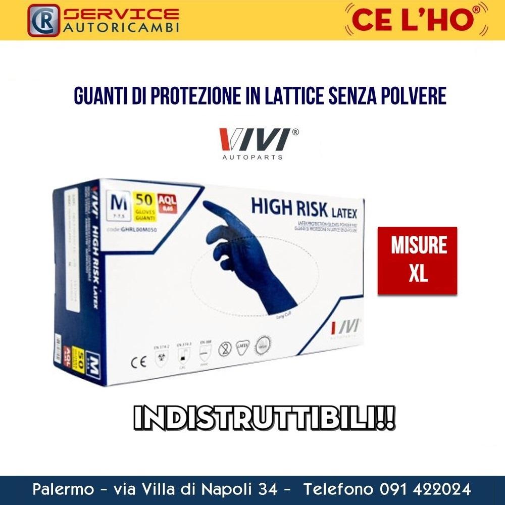 GUANTI IN LATTICE NO POLVERE VIVI AUTOPARTS MISURA XL