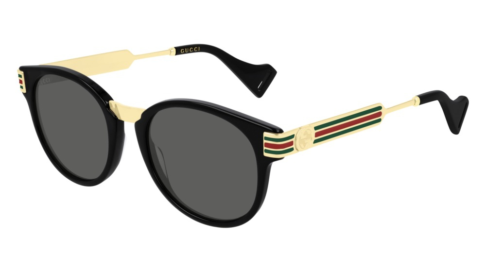 Gucci - Occhiale da Sole Uomo, Black Gold/Grey Shaded  GG0586S  001  C50