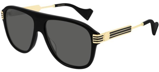 Gucci - Occhiale da Sole Uomo, Black Gold/Grey Shaded  GG0587S  001  C57
