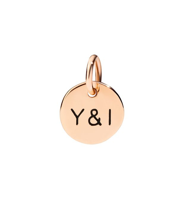 Ciondolo Dodotags You & I in oro rosa 9 ct