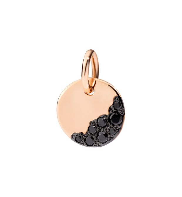 Ciondolo in Oro Rosa 9 Ct e Diamanti Black
