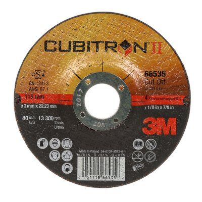 3M Cubitron II Disco da taglio T41 125x1x22 mm