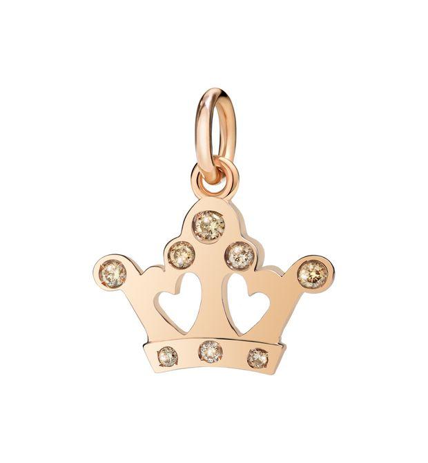 DODO Corona Regina Oro Rosa 9Ct E Diamanti Brown