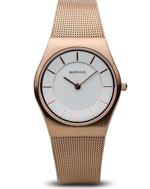 Bering 11930-366 - Orologio da polso Donna, Placcato in acciaio inox, colore: Oro Rosa