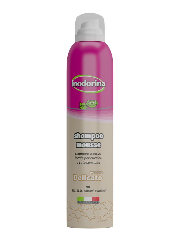 Inodorina Shampoo Mousse - A Secco 300 ml - Profumazione Delicato