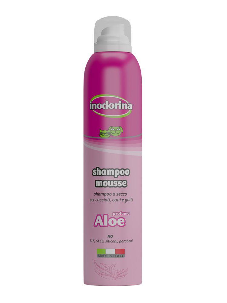 Inodorina Shampoo Mousse - A Secco 300 ml - Profumazione Aloe Vera