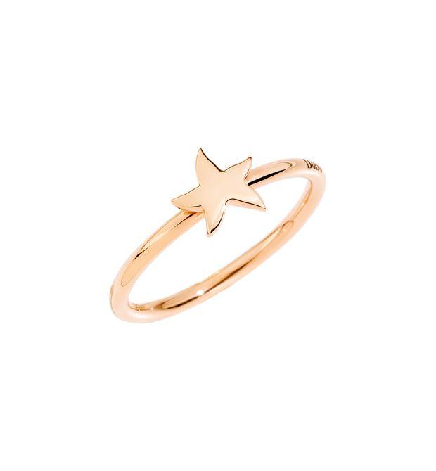 Anello Stella Oro Rosa 9Ct - SPECIFICARE LA MISURA