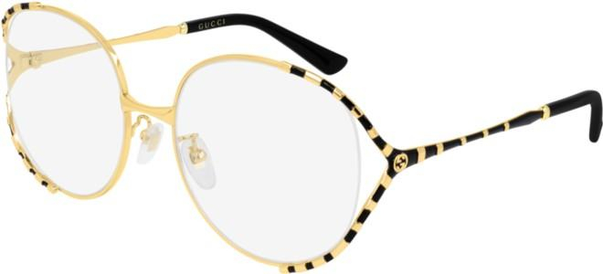 Gucci - Occhiale da Vista Donna, Gold Black GG0596OA  001  C58