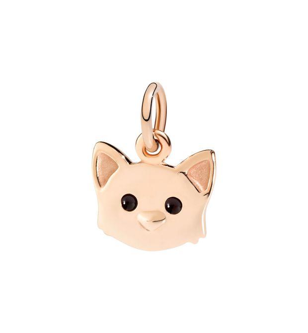 Ciondolo Gatto oro rosa 9 kt