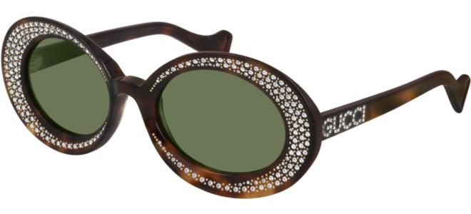 Gucci - Occhiale da Sole Donna, Havana/Green Shaded  GG0618S  001  C54