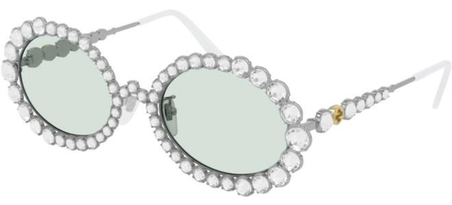 Gucci - Occhiale da Sole Donna, Silver/Light Green Shaded  GG0620S  001  C55