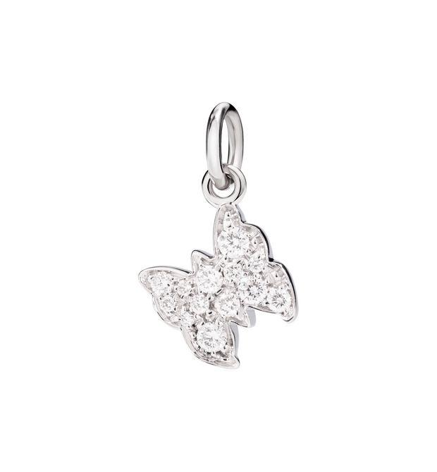 FARFALLA AMO LA LIBERTÀ. Oro Bianco 18kt, Diamanti