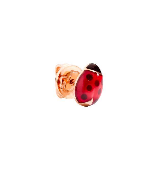 ORECCHINO COCCINELLA ORECCHINO SINGOLO Oro rosa 9 kt, Smalto