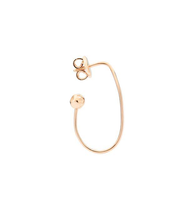 Orecchino Ovale in Oro Rosa 9Ct - Mezzo Paio