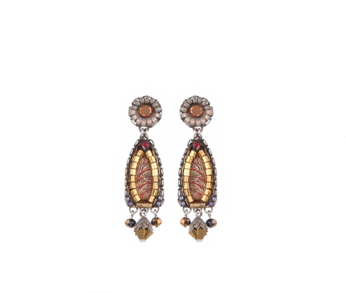 Golden Fog Earrings