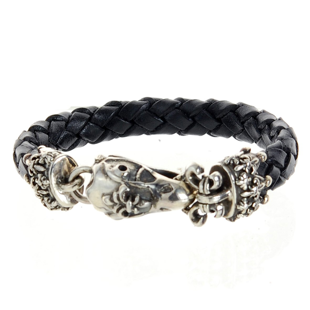 Silver Leather Bracelet