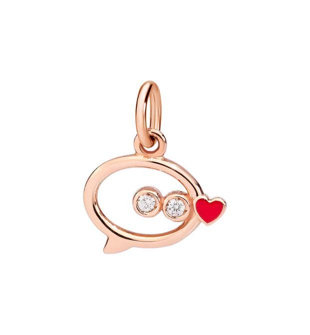 MESSAGGIO Oro rosa 9kt, Diamanti, Smalto