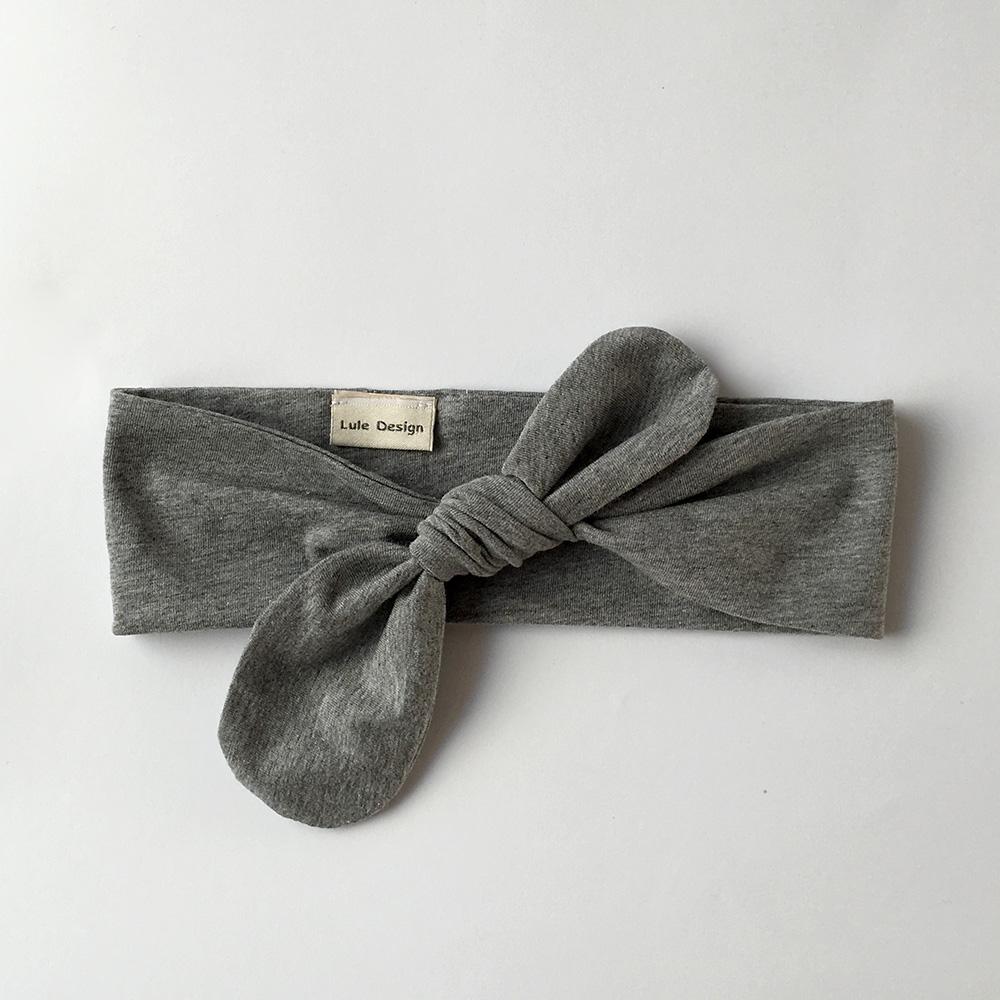 Fascia per capelli in cotone biologico colore grigio