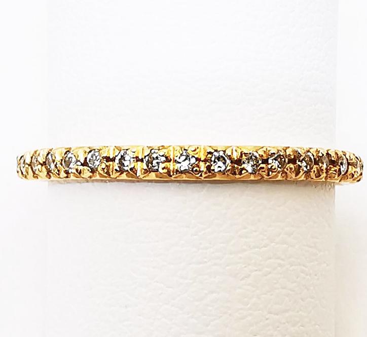 Fedina Eternelle in oro rosa con diamanti bianchi