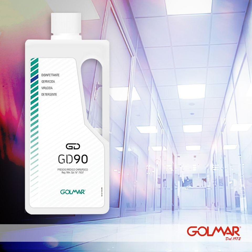 GOLMAR - GD90 DISINFETTANTE - GERMICIDA - VIRUCIDA - DETERGENTE 1000ml